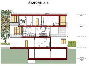 Case-a-schiera-di-architetti-famosi-M-Botta-sezione