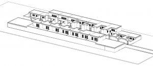 Case a schiera di architetti famosi Quartiere-Malagueira-Alvaro-Siza-assonometria