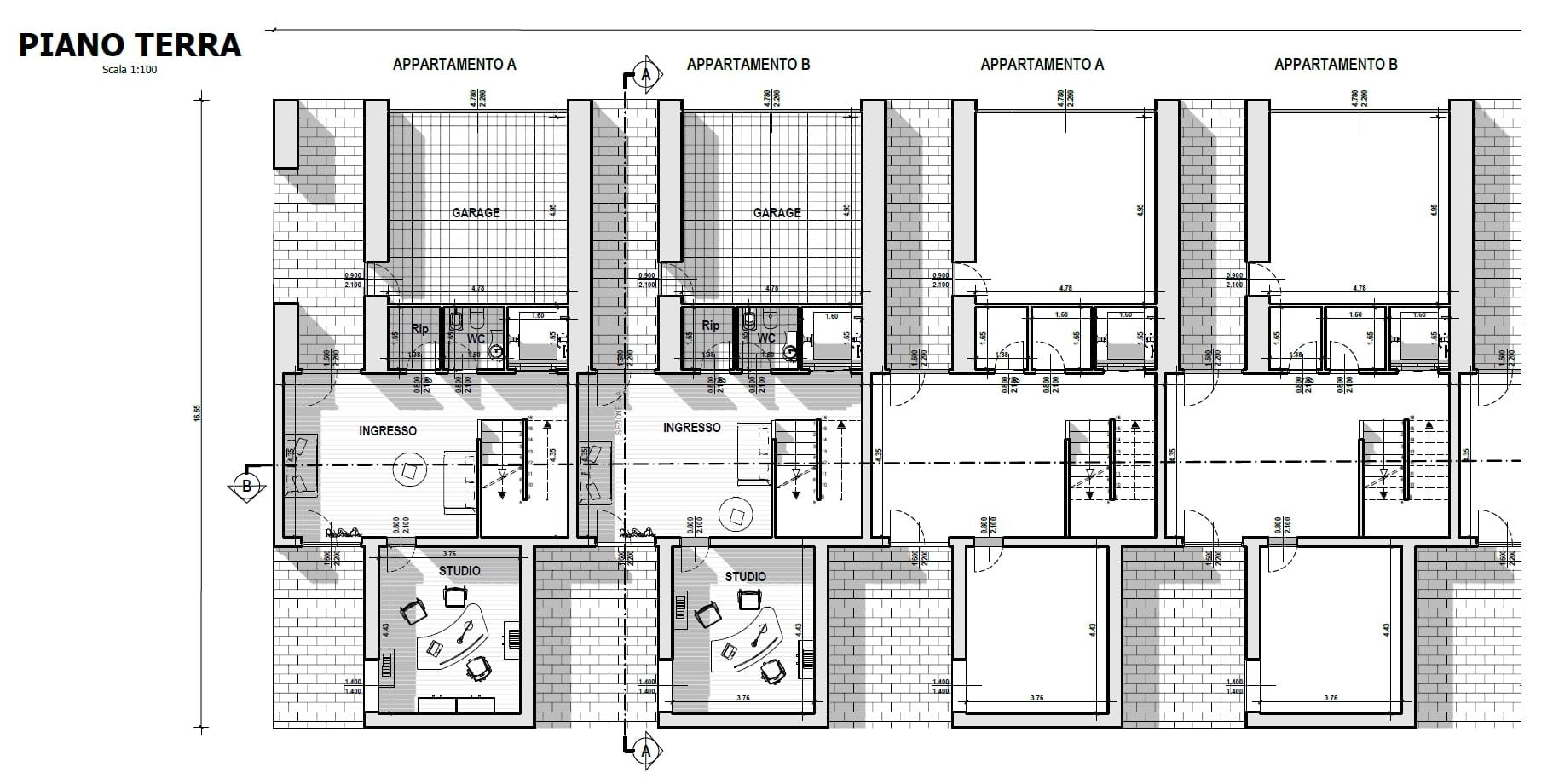126 disegnare piante di appartamenti case a schiera di for Architetti on line gratis