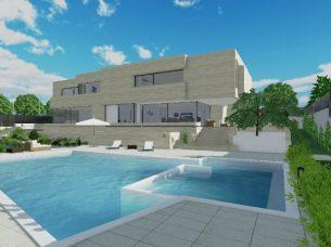 Solarium e piscina_software BIM architettura Edificius