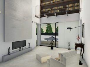 Zona lettura area living_software BIM architettura Edificius