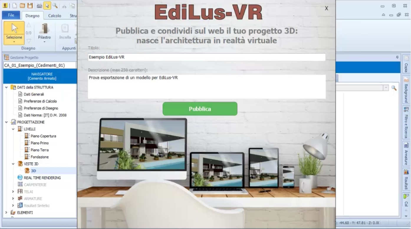 pubblicare e condividere il progetto strutturale online