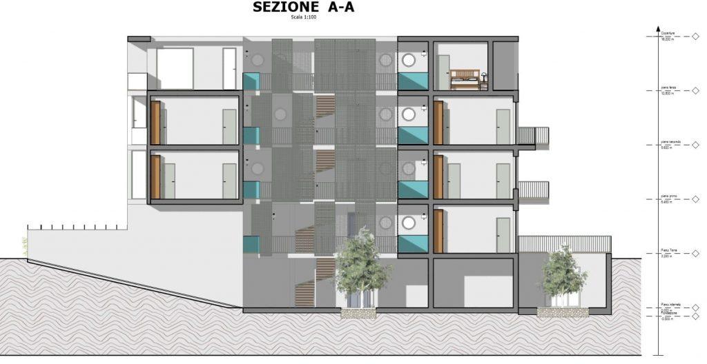 casa-di-ringhiera-a-Lecce-sezione