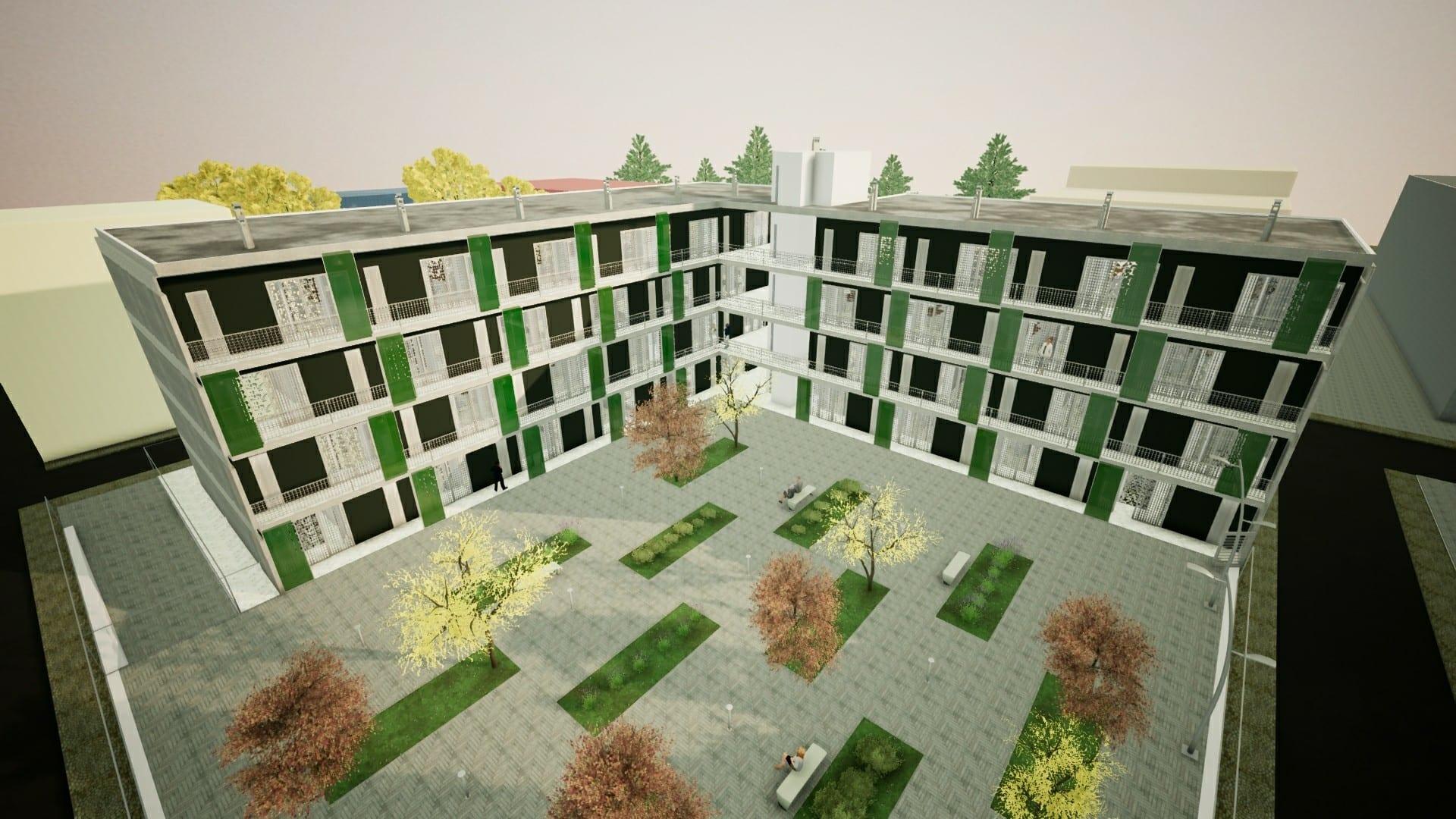 Casa di ringhiera progetti famosi disegni e modelli 3d for Case di casa