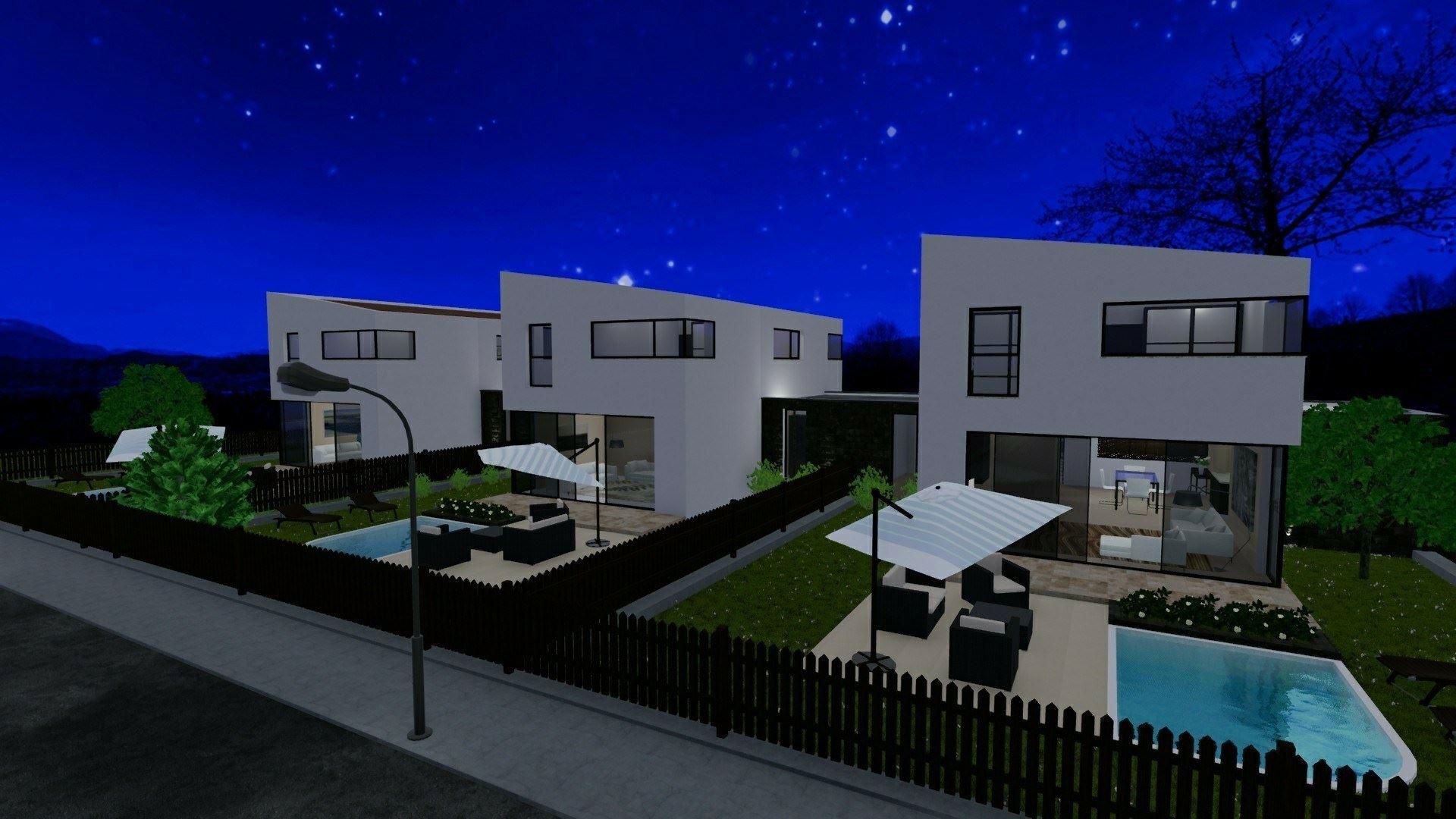 Case Piccole Con Giardino : Progetti di case a schiera con patio o giardino esempi e dwg da