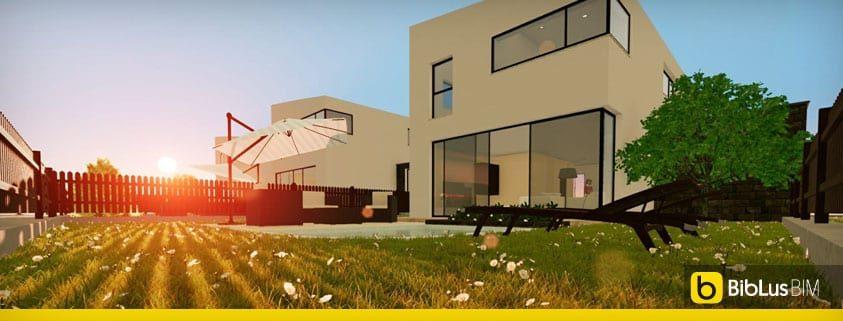 Progetti di case a schiera con patio o giardino esempi e for Case di architetti famosi