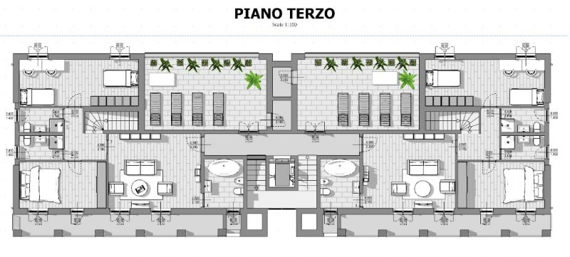 Case in linea progetti e esempi con piante planimetrie for Progetti appartamenti moderni