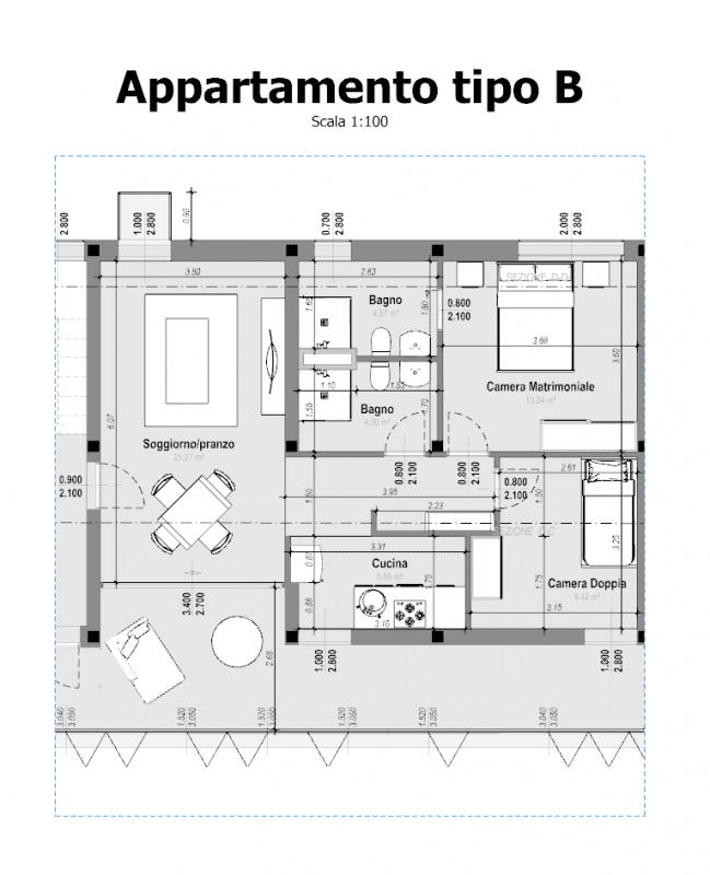 Planimetria dei due impianti della villa tgbs for Planimetria appartamento