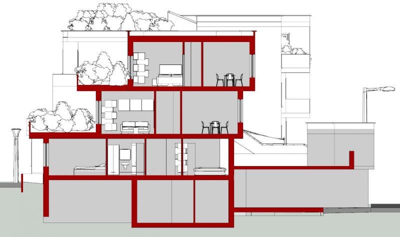 case in linea Villaggio Matteotti - De Carlo - sezione