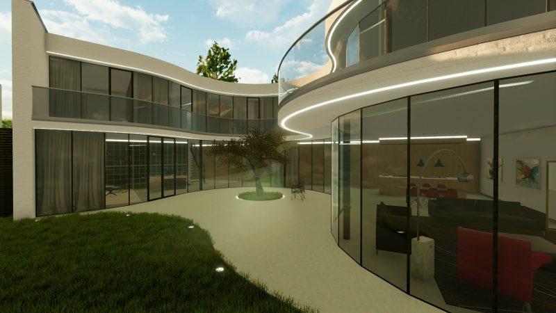 Progetti case unifamiliari dwg for Ville architetti famosi