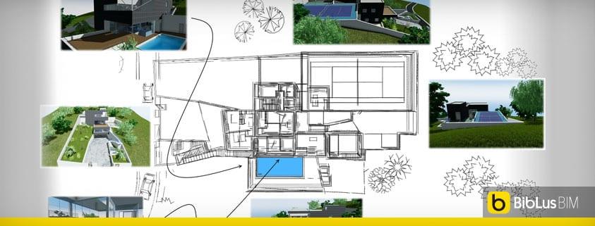 Ecco un progetto di casa unifamiliare a due piani completo for Moderni disegni di case a due piani