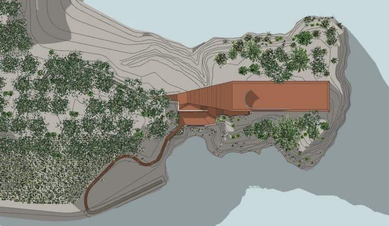 Villa malaparte il progetto completo della casa pi for Casa malaparte interni