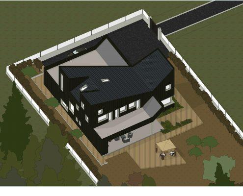 progetti case unifamiliari - assonometria