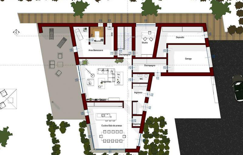 progetti case unifamiliari - pianta