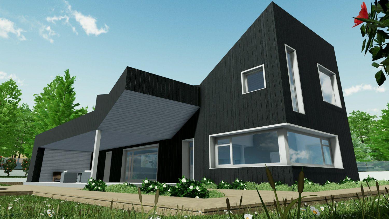 Progetti di case unifamiliari da scaricare biblus bim for Progetto casa autocad