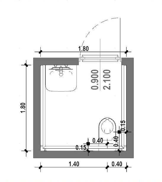 Come progettare un bagno per disabili norme e caratteristiche biblus bim - Misure bagno minimo ...