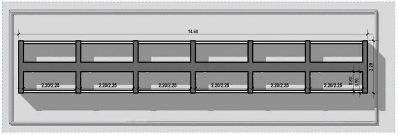 progetto di loculi cimiteriali - tipologie - Disposizione a cantera su due lati