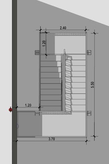 progettazione scale antincendio - planimetria