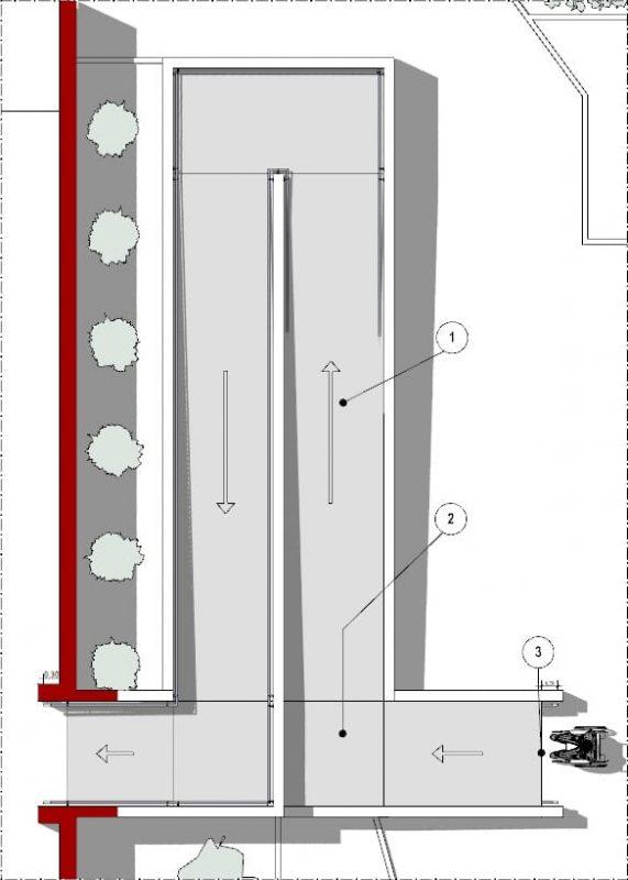 Progetto-rampa-disabili-Immagine che mostra la pianta di un progetto di una rampa per disabili