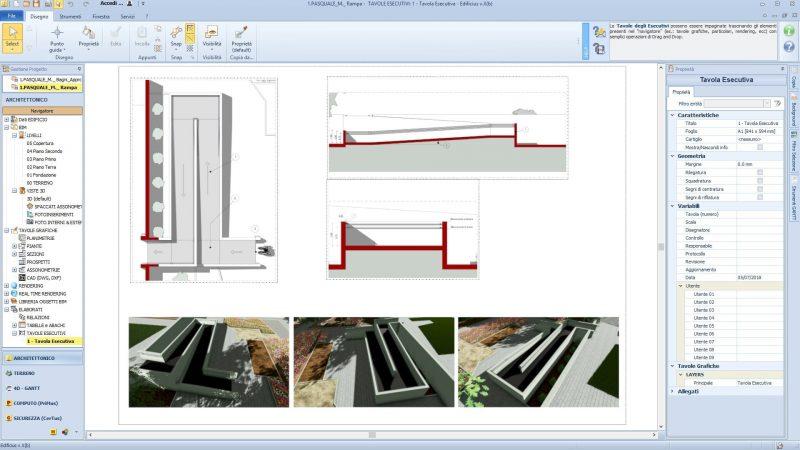 Progetto-rampa-disabili - tavola tecnica del progetto della rampa per disabili
