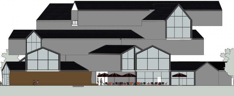 progettare un museo - Vitrahaus - prospetti