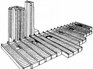 edilizia sanitaria - edifici a piastra-torre