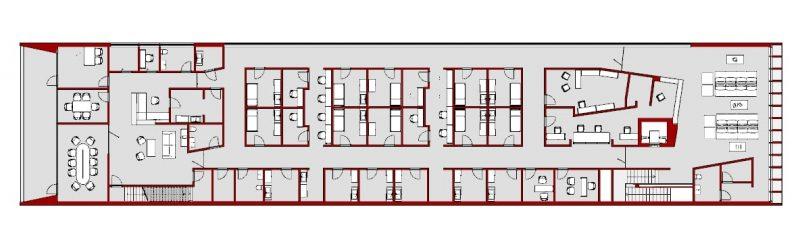 progettazione strutture sanitarie - pianta