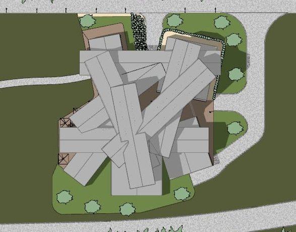 progettare un museo - Vitrahaus - planimetria
