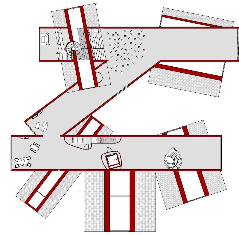 progettare un museo - Vitrahaus - pianta