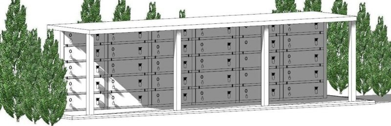 progetto di loculi cimiteriali - Assonometria