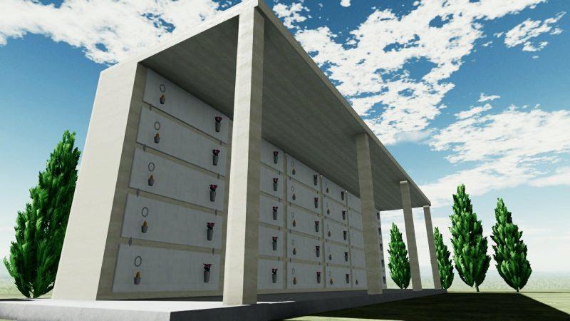 progetto di loculi cimiteriali