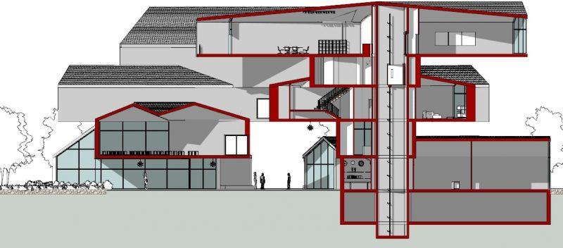 progettare un museo - Vitrahaus - sezioni