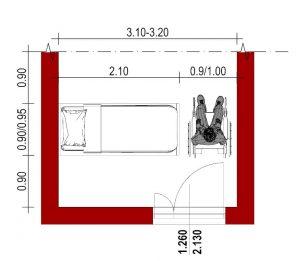 progettazione strutture sanitarie - stanza per degenza