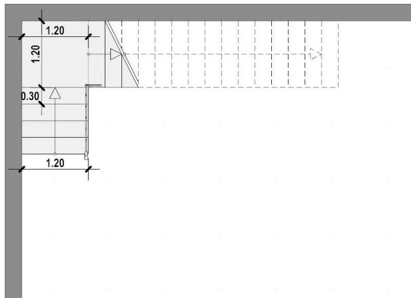 Progettazione scale interne-Scala a L