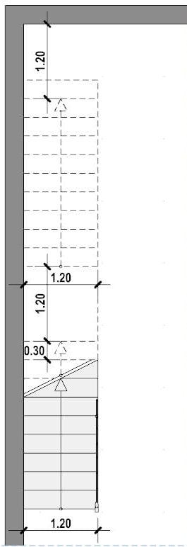 Progettazione scale interne-Scala lineare