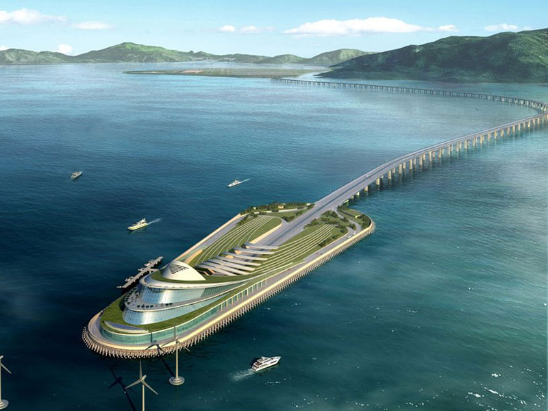 ponte più lungo del mondo - isola artificiale