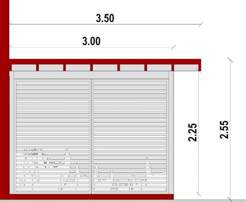 progetto tettoia - sezione