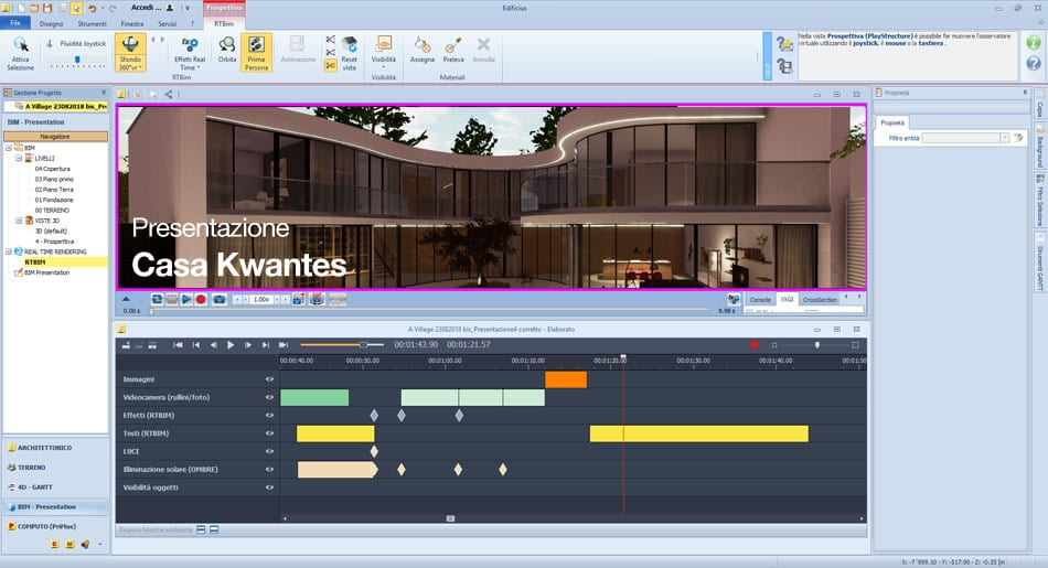 BIM - Edificius BIM ONE - video editor