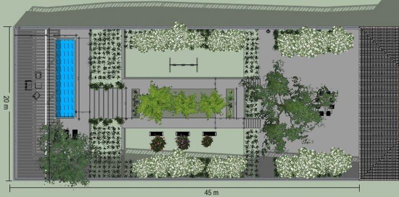 come progettare un giardino - planimetria