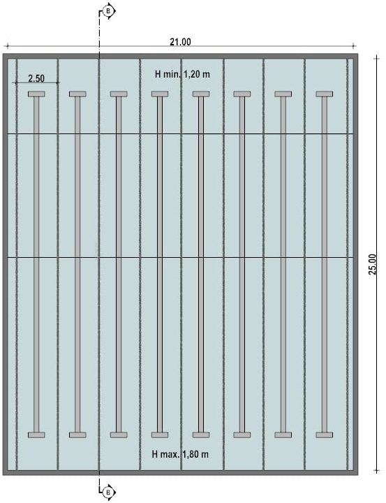 Progetto-piscina-piscina semiolimpionica-pianta
