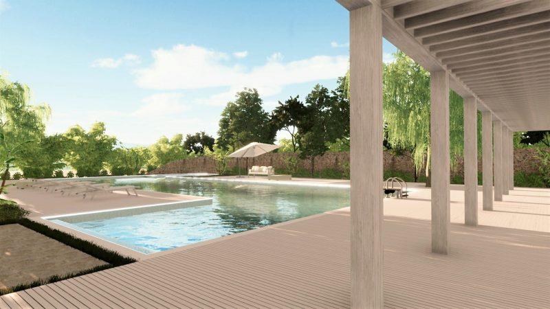 progetto piscina - rendering