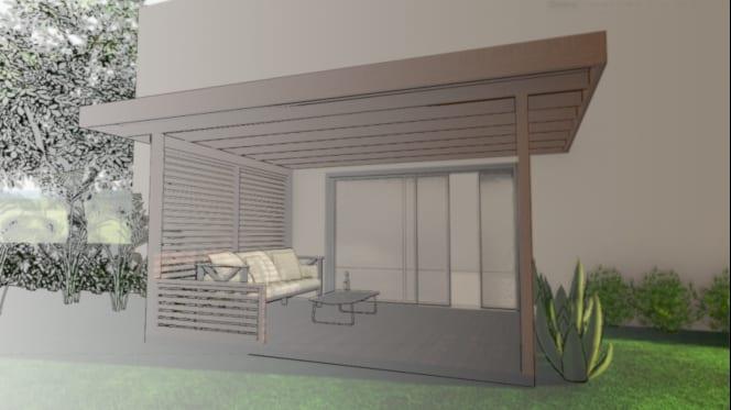 progetto tettoia