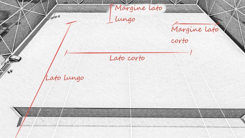 progetto campo da tennis