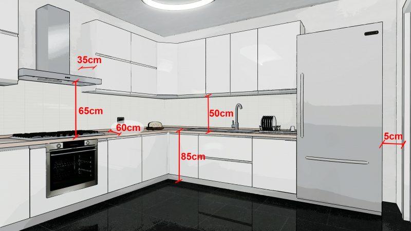 come progettare una cucina _ misure minime