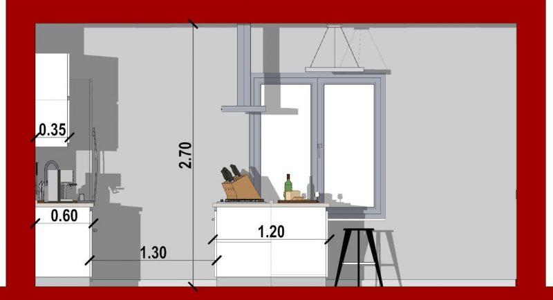 come progettare una cucina_sezione cucina con isola