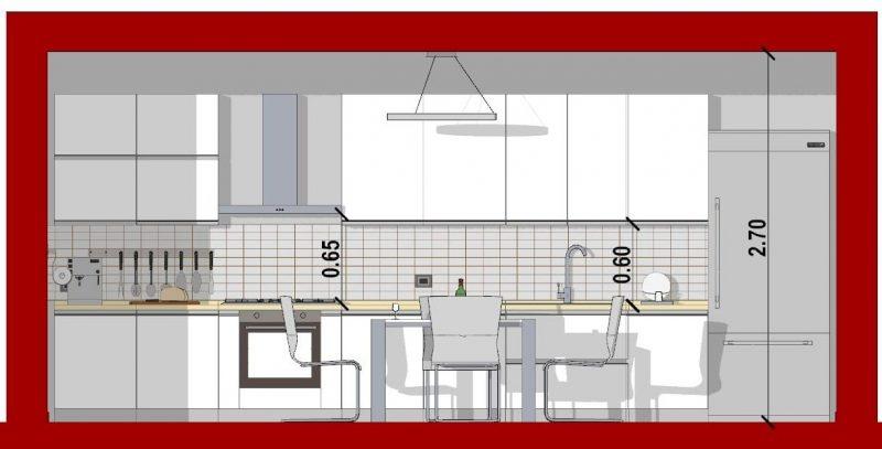 come progettare una cucina_sezione cucina lineare
