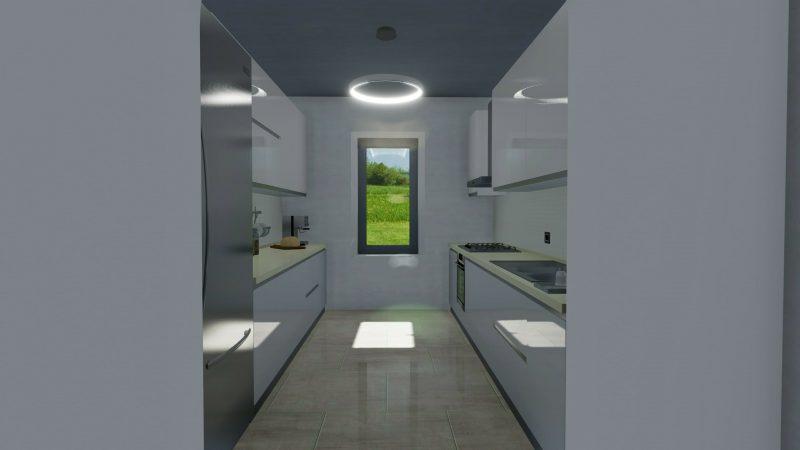 come progettare una cucina - tipologia lineare doppio