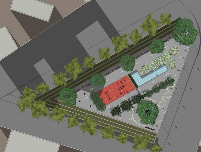 Progetto di arredo urbano - Planimetria