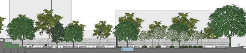 Progetto di arredo urbano-Sezione a-a