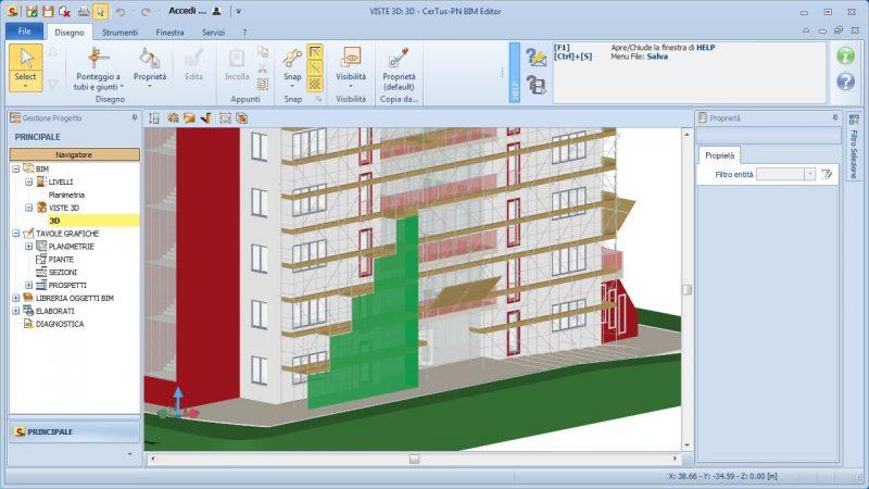 progettazione ponteggi - modellazione BIM